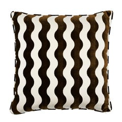 "Schumacher The Wave 24"" Pillow in Chocolate"