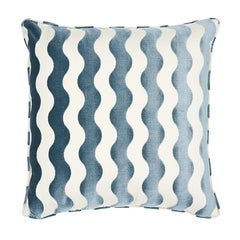 "Schumacher The Wave 24"" Pillow in Sky"