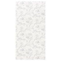 Schumacher Toile De Fleurs Wallpaper in Grisaille