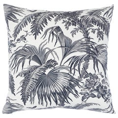 Schumacher Toile Tropique Pillow in Black