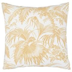 Schumacher Toile Tropique Pillow in Gold