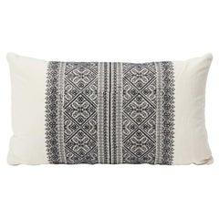 """Schumacher Toledo 26"""" Lumbar Pillow in Noir"""