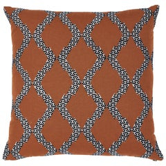 Schumacher Topi Pillow in Sienna