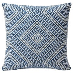 Schumacher Tortola Diamond Woven Indoor/Outdoor Two-Sided Pillow