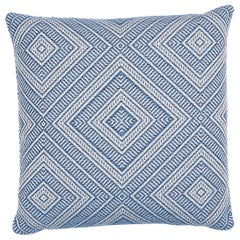 Schumacher Tortola Indoor/Outdoor Pillow in Marine