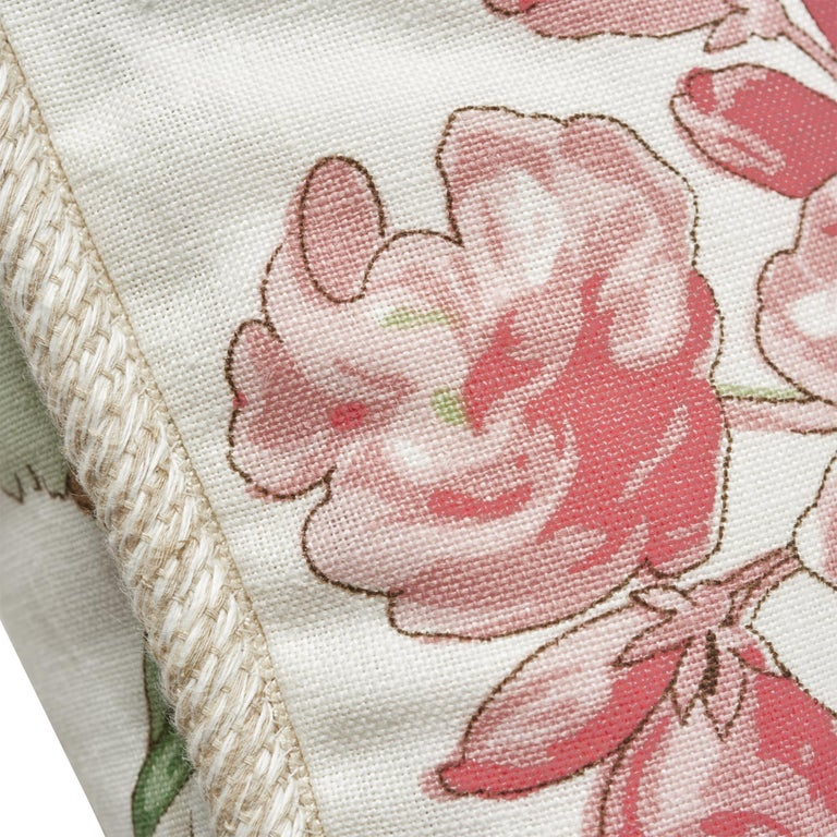 Schumacher Tropique Blush Two-Sided Linen Pillow In New Condition For Sale In New York, NY