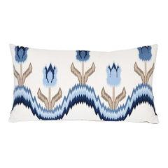 Schumacher Tulip Flamestitch Lumbar Pillow