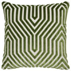 Schumacher Vanderbilt Velvet Lettuce Two-Sided Pillow
