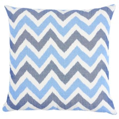 "Schumacher Vedado Ikat 22"" Pillow"