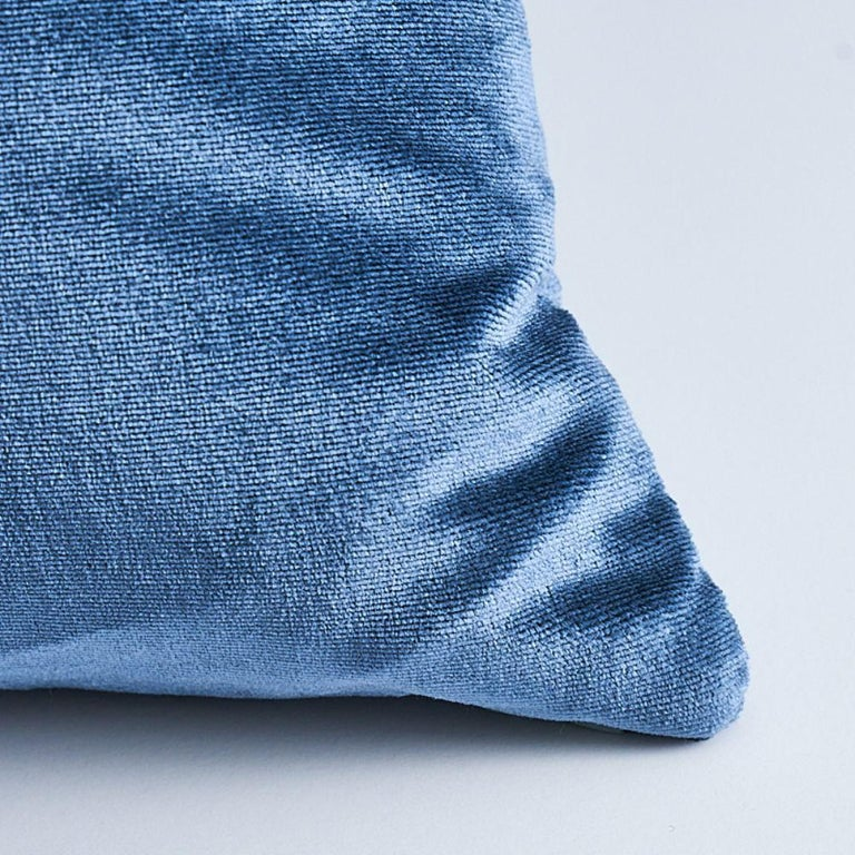 This pillow features Venetian Silk Velvet with a knife edge finish. The ultimate in sumptuous luxury, our gorgeous silk velvet has an unbelievably lush hand and a wonderful luster. Pillow includes a feather/down fill insert and hidden zipper