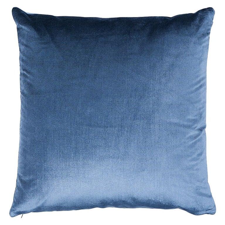 "Schumacher Venetian Silk Velvet 18"" Pillow For Sale"