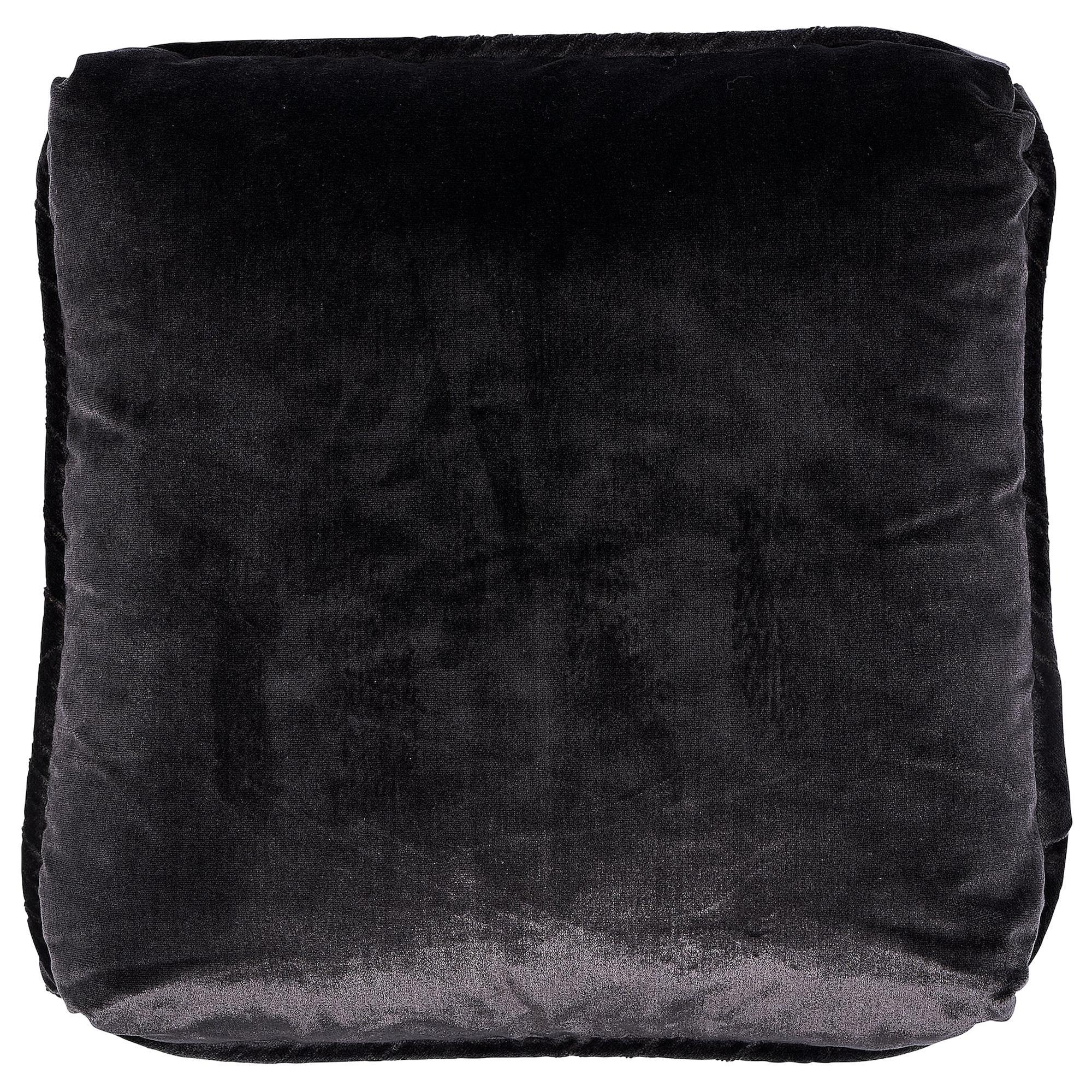 """Schumacher Venetian Silk Velvet 18"""" Pillow in Graphite"""