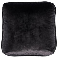 "Schumacher Venetian Silk Velvet 18"" Pillow in Graphite"