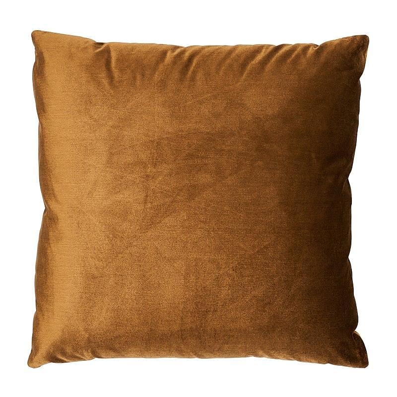 "Schumacher Venetian Silk Velvet 18"" Pillow in Mink"