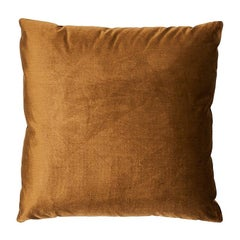 "Schumacher Venetian Silk Velvet 18"" Pillow in Mink"
