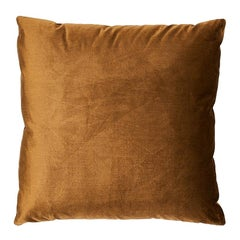 "Schumacher Venetian Silk Velvet 24"" Pillow in Mink"
