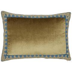 Schumacher Venetian Silk Velvet Hazel Lumbar Pillow