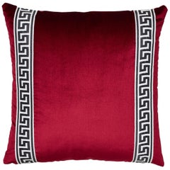 Schumacher Venetian Silk Velvet Port Two-Sided Pillow