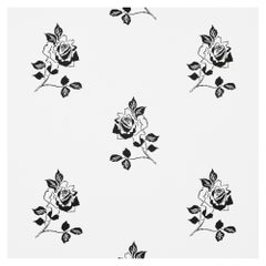 Schumacher Vogue Living Adele Floral Wallpaper in Blackwork