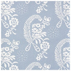 Schumacher Vogue Living Millicent Floral Wallpaper in Delft