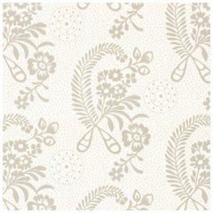 Schumacher Vogue Living Millicent Floral Wallpaper in Grisaille