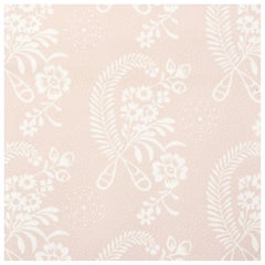 Schumacher Vogue Living Millicent Floral Wallpaper in Rose