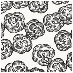 Schumacher Vogue Living Mona Floral Wallpaper in Blackwork