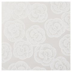 Schumacher Vogue Living Mona Floral Wallpaper in Whitework