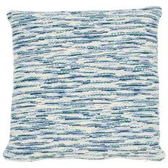 Schumacher Walker Blues Cotton Linen Two-Sided Pillow
