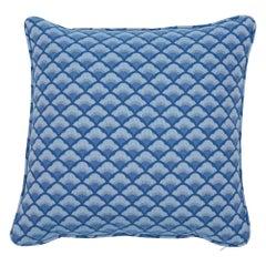 Schumacher Wilhelm Blue Two-Sided Cotton Pillow