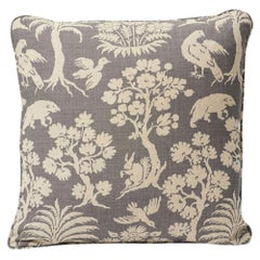 "Schumacher Woodland Silhouette 18"" Linen Pillow"