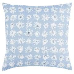 "Schumacher x Caroline Z Hurley Meadow Rock 18"" Pillow In Blue"