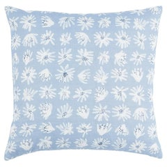 "Schumacher x Caroline Z Hurley Meadow Rock 22"" Pillow In Blue"