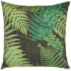 Schumacher x Clements Ribeiro Fernarium Green & Black Cotton Pillow