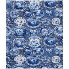 Schumacher x Johnson Hartig Plates & Platters Wallpaper in Blue