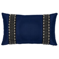 Schumacher x Johnson Hartig Punk Rock Pillow in Navy