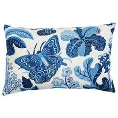 Schumacher x Josef Frank Exotic Butterfly Marine Two-Sided Linen Pillow