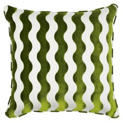 "Schumacher x Miles Redd The Wave 22"" Pillow in Lettuce"