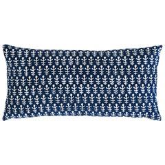 Schumacher X Molly Mahon Bagru & Buti Pillow in Blue