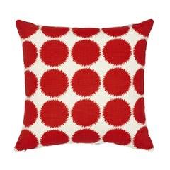Schumacher x Studio Bon Fuzz II Red Indoor/Outdoor Pillow