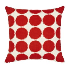Schumacher x Studio Bon Fuzz II Red Indoor/Outdoor Pillow