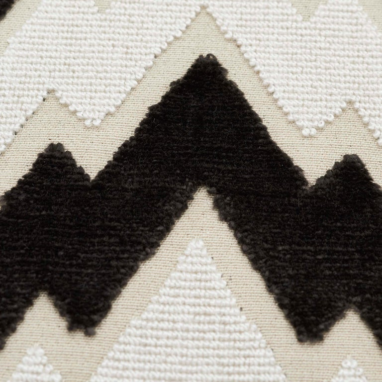 Cotton Schumacher X Timothy Corrigan Florentine Velvet Black Two-Sided Pillow For Sale