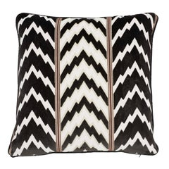 Schumacher X Timothy Corrigan Florentine Velvet Black Two-Sided Pillow