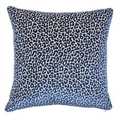 Schumacher x Timothy Corrigan Madeleine Velvet Pillow in Midnight