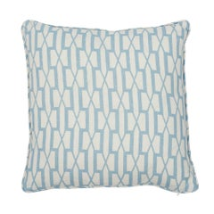 Schumacher x Veere Grenney Belvedere Sky Two-Sided Linen Pillow