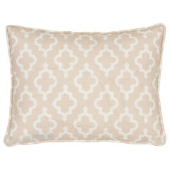 Schumacher x Veere Grenney Jake Quiet Pink Linen Two-Sided Pillow