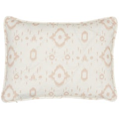 Schumacher x Veere Grenney Tabitha Quiet Pink Linen Two-Sided Pillow