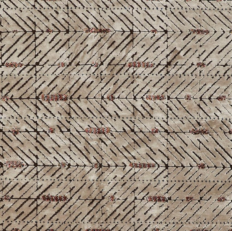 Nepalese Schumacher Yorubu Area Rug in Hand-Woven Wool & Silk by Patterson Flynn Martin For Sale