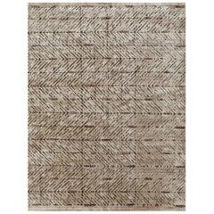 Schumacher Yorubu Area Rug in Hand-Woven Wool & Silk by Patterson Flynn Martin