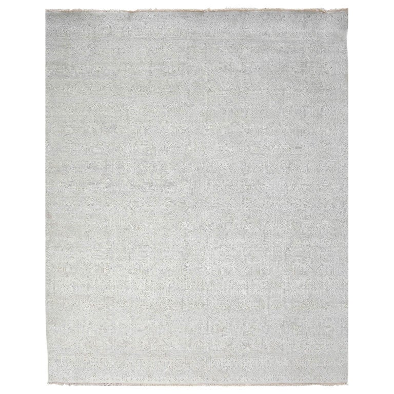 Schumacher Yuki Area Rug in Hand-Knotted Wool by Patterson Flynn Martin For Sale